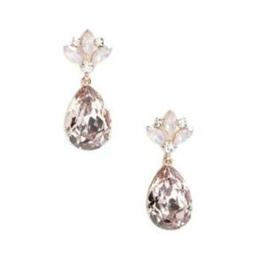 Statement Teardrop Gem Drop Earrings